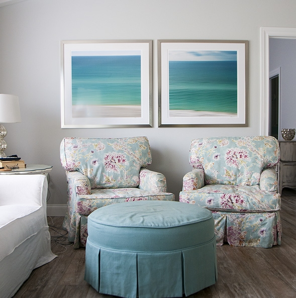 Framed Seacoast 254 and 243 in Siesta Key home